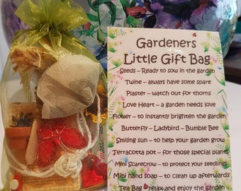 Gardeners Little Gift Bag - Novelty gift for a friend or loved one