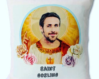 Saint Gosling-Ryan Gosling decorative cushion woth insert included. 46cmx 46cm