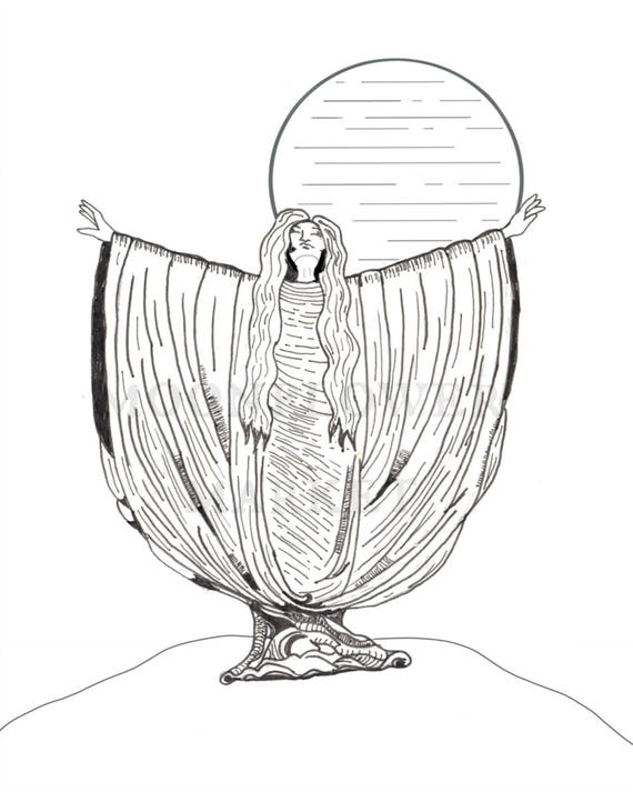 "Moon Goddess 8""x10"" Print"
