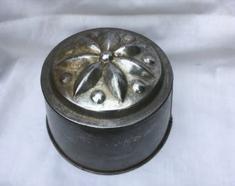 Vintage French Metal Brioche - Cake Tin, French Cuisine .