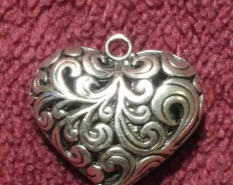 Pendant heart for lover for beloved decoration silver color bijouterie pendant as a gift for women holiday Ukraine Valentine's Day Christmas