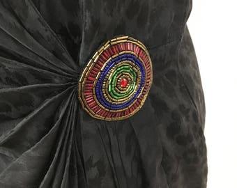 1980's Silk Last Days of Disco Dress