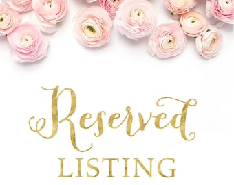 Reserved Listing for Lindsey Fisher