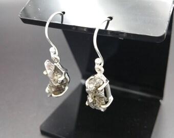 Meteorite Earrings Sterling Silver .925 Campo Del Cielo Specimens Space Lovers Gift