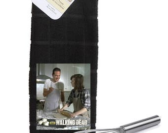 The Walking Dead Negan and Carl Jeffery Dean Morgan Chandler Riggs  Kitchen Towel