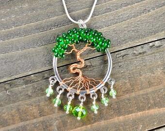 Tree Amulet Necklace, Unique Tree Necklace, Unique Tree Jewelry, Unique Tree Pendant, Tree of Life Amulet, Tree Amulet Jewelry, Tree Amulet