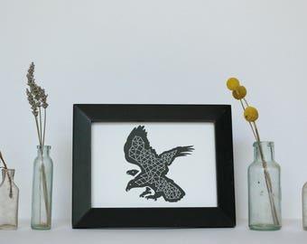 Illustrated bird postcard