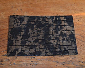 Genuine Brown cowhide leather coupon Golden (9013132)