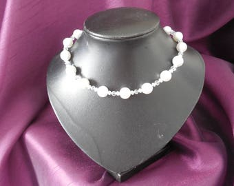 Pearl & Crystal Necklace.