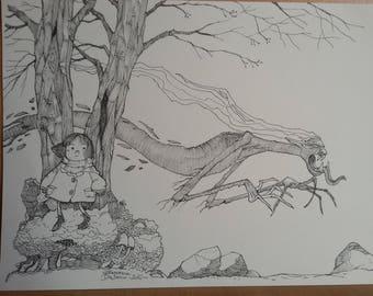 Hide and Seek (original drawing)
