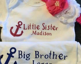 Custom big brother little sister shirts