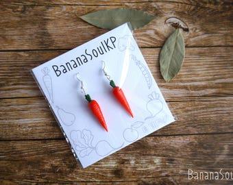 Carrot Earring Vegetables