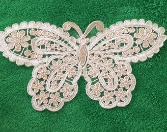 10 * 18 CMS for your creations guipure lace Butterfly