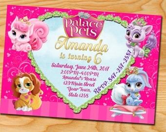 Palace Pets Invitation, Princess Palace, Palace Pets Birthday Invitations, Palace Pets Birthday Invitation,Palace Pets Invitations