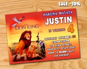 Lion King Invite, Lion King Invitation, Lion King Birthday, Lion King Party, Lion King Printables, Lion King Custom
