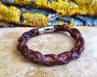 Bracelet Leather, Leather Bracelet, Brown Bracelet, Bracelet, Gift For Men, Gift For Women, Jewelry, Braided