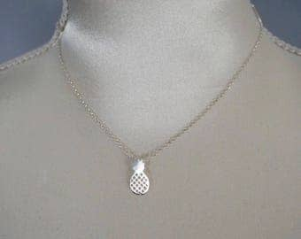 Chain in 925 Silver with pineapple pendant necklace