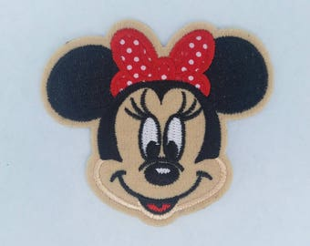 Minnie mouse inspired iron on patch, Red minnie mouse birthday party inspired applique