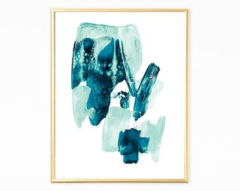 Brush sroke print,Abstract modern print,contemporary wall art,instant download art,printable wall art,abstract digital prints,blue printable
