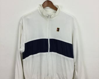 Vintage 90s Womens Nike ATP Windbreaker Reversible Jacket Size M Challenge Court