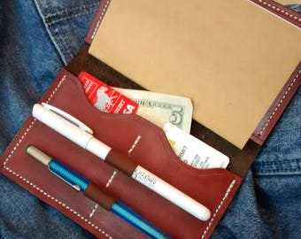 Oiled Leather Field Notes Cover