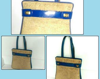 Vintage Lion Hair Leather Handbag
