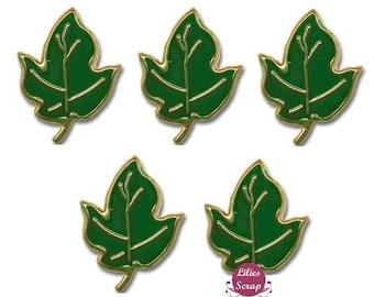 5 screw Brads leaves maple maple leaf 20 x 15 mm creative cardmaking scrapbooking