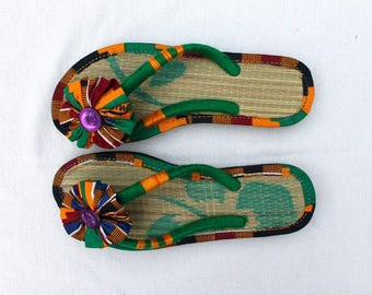 African Printed Sandals