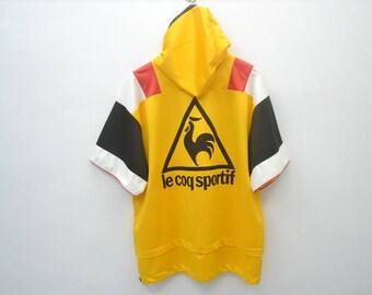 Rare!!!Le Coq Sportif Vintage 90's Le Coq Sportif Colorblock Big Logo Spell Out Track Top Hoodie Zipper Jacket Size L