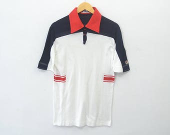 Fila Guillermo Villas Polo Shirt Vintage Fila Guillermo Villas Activewear Shirt Made in Italy Men's Size 44