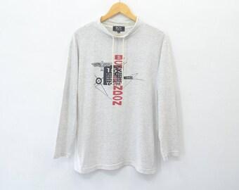 BOY LONDON Shirt Vintage 90's Boy London Spell Out Turtleneck Longsleeve Shirt Size M