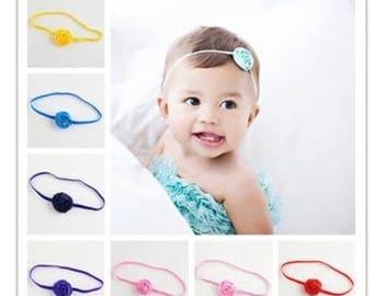 Silk Rose Baby Toddler Girl Hairband
