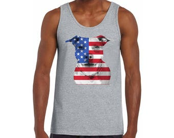 USA Flag Pitbull Tank Tops Tank Top American Pitbull 4th of July Gift Independence Day