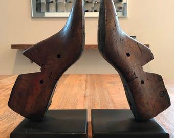 Vintage Shoe Molds Bookends