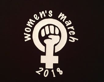 100% of proceeds donated to ANTI TRUMP progressive human rights organizations / I was there Women's March 2018, anti-Trump political t shirt