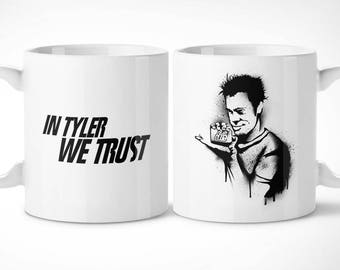 Fight Club > Tyler-Exclusive Mug Cup/exclusive mug-Fight Club Tyler Durden Marla singer film movie cinema movie