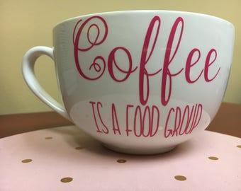 Coffee Is a Food Group//Coffee Mug//Coffee gift//coffee lover//Custom Coffee Mug//Coffee//Food group//Vinyl design// Coffee//Mug