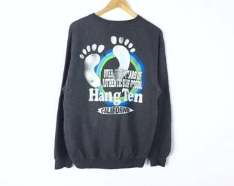 Rare!!! Vintage Hang Ten Sweatshirt Hang Ten Hip Hop Swag