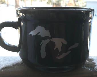 22 oz Michigan Great Lakes soup mug