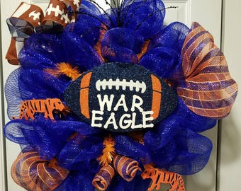 Auburn Tigers Door Wreath