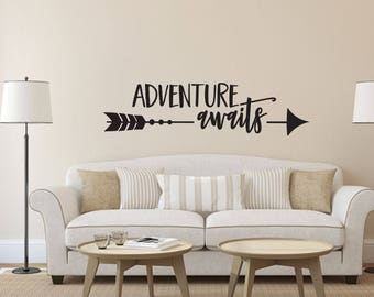 Adventure Awaits Home and Family Vinyl Wall Decal
