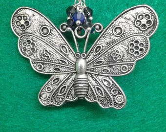 Large butterfly christmas ornament