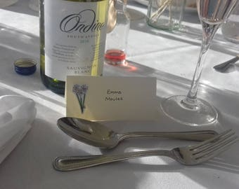 Personalised Wedding Place Names - Bespoke Seating Cards - Hand-drawn Place Names - Illustrated Placecards - Wedding Place Settings