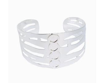 Bracelet cuff Arles/Museum of Arles Antique silver finish