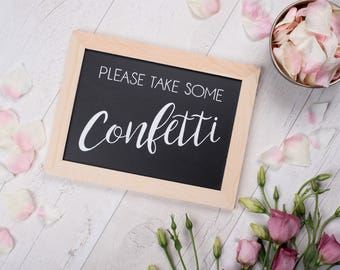 Confetti - Wedding Chalkboard