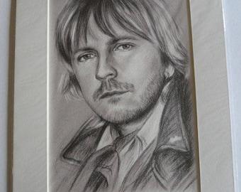 Renaud Reproduction portrait on paper A4 art + mat