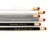 Beyoncé Personalized Pencil set - Inspirational pencil set - Feminist pencil set - I'm the boss - Who run the world? Girls! - Formation