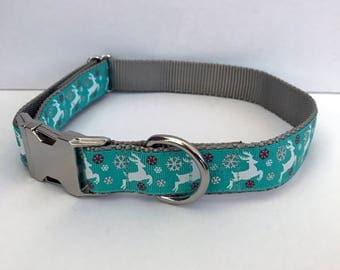 Teal Reindeer Collar