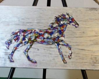 White Horse Plaque
