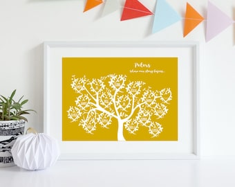 Family tree gift, Gift for parents, Anniversary gift, 1st Anniversary, Mum and Dad, Grandparents, Golden Anniversary, Gift for parents